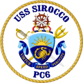 Coastal Patrol Ship USS Sirocco (PC-6).png