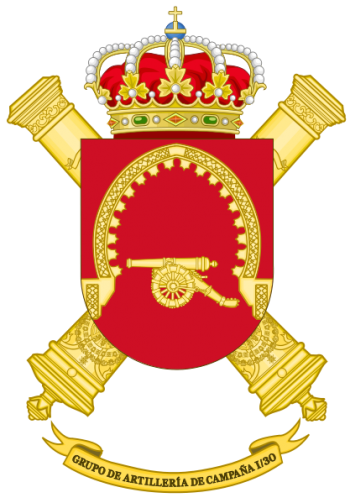 Coat of arms (crest) of the Field Artillery Group I-30, Spanish Army