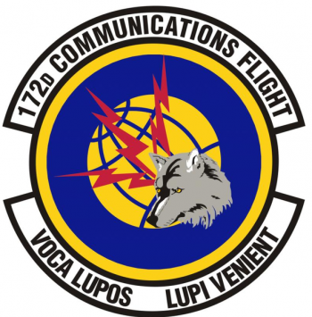 Coat of arms (crest) of the 172nd Communications Flight, US Air Force