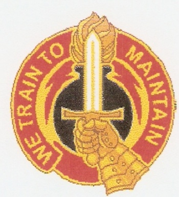 Arms of 16th Ordnance Battalion, US Army