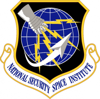 Coat of arms (crest) of the National Security Space Institute, US Air Force