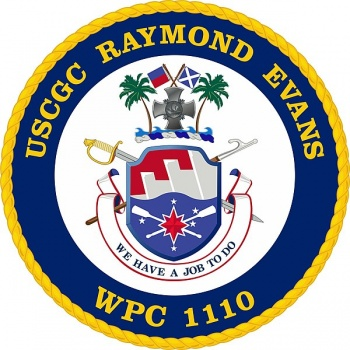 Coat of arms (crest) of the USCGC Raymond Evans (WPC-1110)