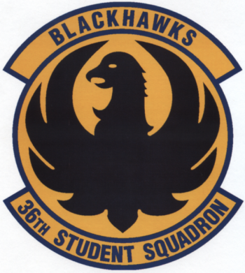 Coat of arms (crest) of the 36th Student Squadron, US Air Force