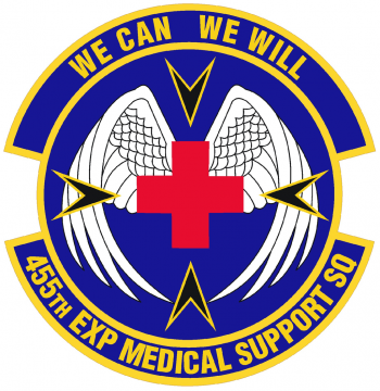 Coat of arms (crest) of the 455th Medical Support Squadron, US Air Force