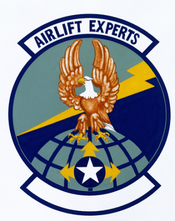 Coat of arms (crest) of the 624th Aerial Port Squadron, US Air Force