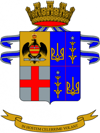 Arms of Horse Artillery Regiment Volòire, Italian Army