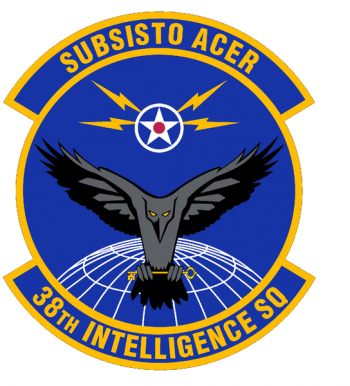 Coat of arms (crest) of the 38th Intelligence Squadron, US Air Force