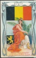 Arms, Flags and Folk Costume trade card Belgium