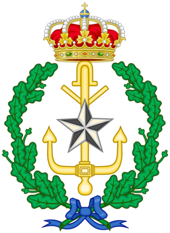 Coat of arms (crest) of the Naval Warfare College, Spanish Navy