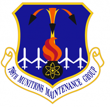 Coat of arms (crest) of the 798th Munitions Maintenance Group, US Air Force