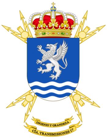 Coat of arms (crest) of the Signal Company No 17, Spanish Army