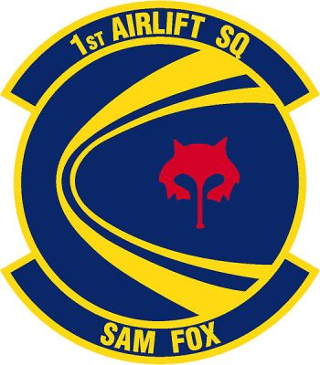 Coat of arms (crest) of the 1st Airlift Squadron, US Air Force