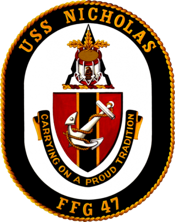 Coat of arms (crest) of the Frigate USS Nicholas (FFG-47)