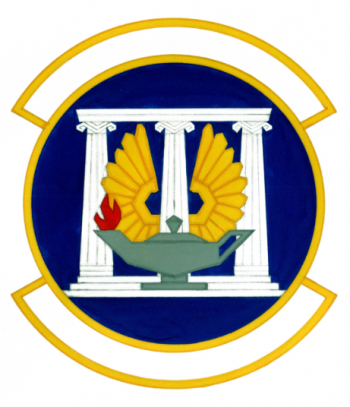 Coat of arms (crest) of the 7028th School Squadron, US Air Force