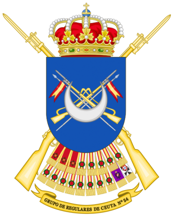Coat of arms (crest) of the Regulares Group of Ceuta No 54, Spanish Army