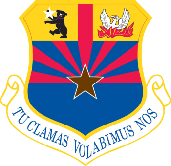 Coat of arms (crest) of the 161st Air Refueling Wing, Arizona Air National Guard