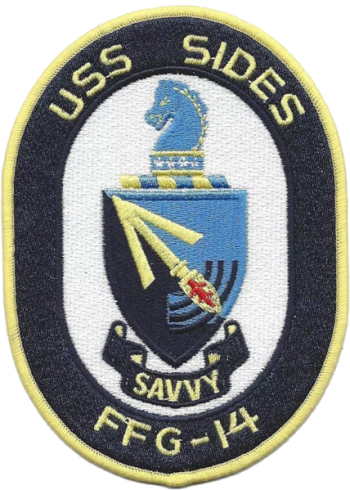 Coat of arms (crest) of the Frigate USS Sides (FFG-14)