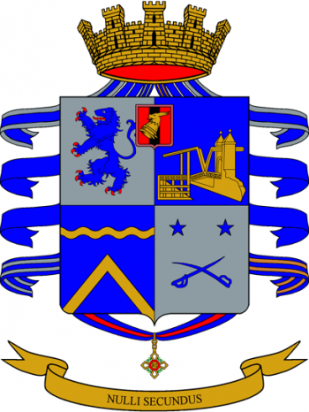 Coat of arms (crest) of the 2nd Bersaglieri Regiment, Italian Army