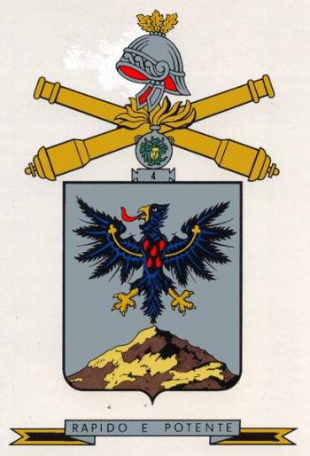 Arms of 4th Artillery Regiment, Italian Army