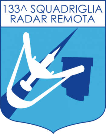 Coat of arms (crest) of the 133rd Remote Radar Squadron, Italian Air Force