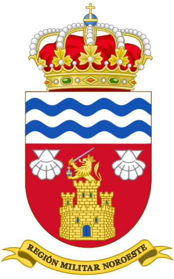 Arms of Northwestern Military Region, Spanish Army