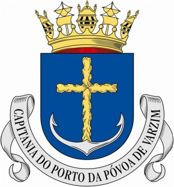 Coat of arms (crest) of the Harbour Captain of Póvoa de Varzim, Portuguese Navy
