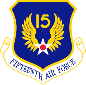 Coat of arms (crest) of the 15th Air Force, US Air Force