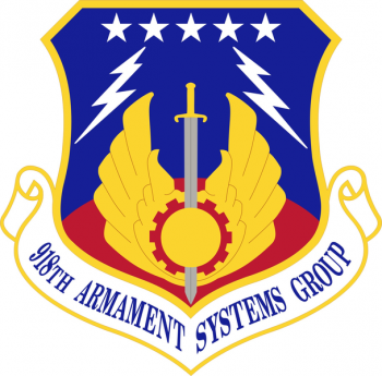 Coat of arms (crest) of the 918th Armament Systems Group, US Air Force