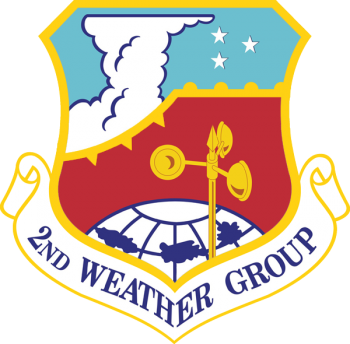 Coat of arms (crest) of the 2nd Weather Group, US Air Force