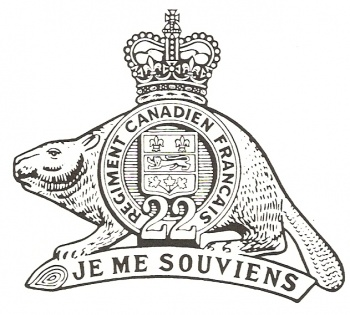 Coat of arms (crest) of the Royal 22e Regiment, Canadian Army
