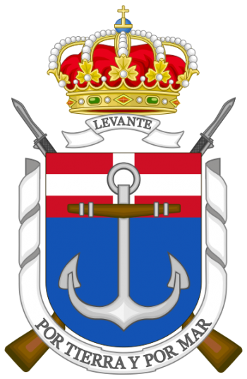 Coat of arms (crest) of the Tercio of the Levant, Spanish Navy