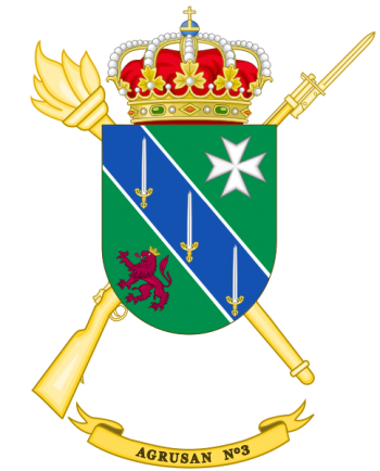 Coat of arms (crest) of the 3rd Army Health Services Grouping, Spanish Army