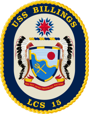 Coat of arms (crest) of the Littoral Combat Ship USS Billings (LCS-15)