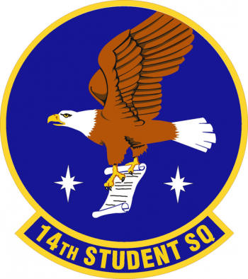 Coat of arms (crest) of the 14th Student Squadron, US Air Force