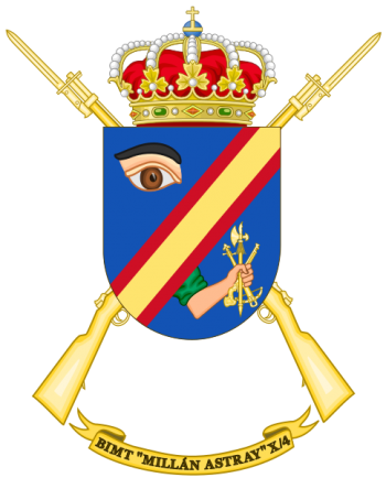 Coat of arms (crest) of the Motorized Infantry Bandera Millán Astray X-4, Spanish Army