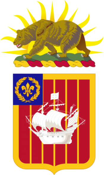 Arms of 251st Air Defense Artillery Regiment, California Army National Guard