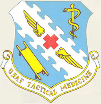 Coat of arms (crest) of the USAF Tactical Medical Center, US Air Force