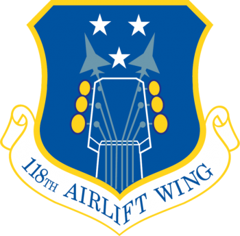 Coat of arms (crest) of the 118th Airlift Wing, Tennessee Air National Guard