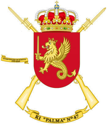 Coat of arms (crest) of the Infantry Regiment Palma No 47, Spanish Army