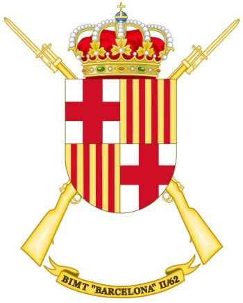 Coat of arms (crest) of the Motorized Infantry Battalion Barcelona II-62, Spanish Army