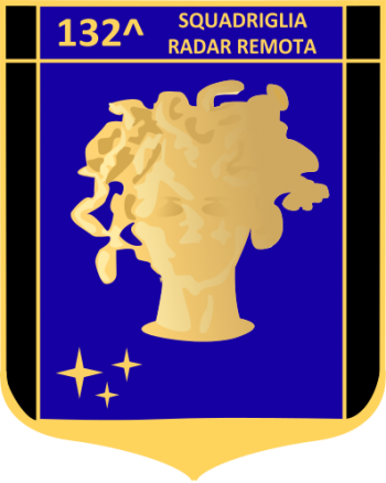 Coat of arms (crest) of the 132nd Remote Radar Squadron, Italian Air Force