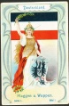 Arms, Flags and Folk Costume trade card Natrogat Deutschland