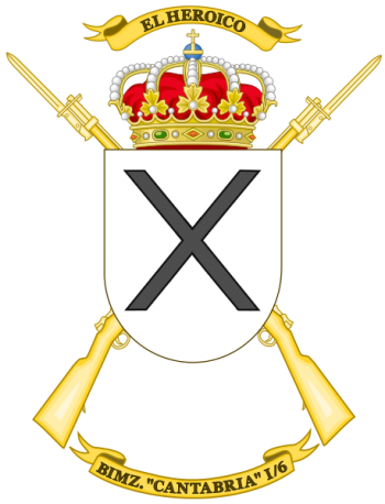 Coat of arms (crest) of the Mechanized Infantry Battalion Cantabria I-6, Spanish Army