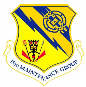Coat of arms (crest) of the 15th Maintenance Group, US Air Force