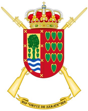 Coat of arms (crest) of the Protected Infantry Bandera Ortiz de Zarate III-5, Spanish Army