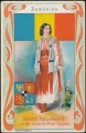Arms, Flags and Folk Costume trade card Romania