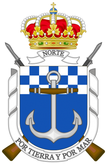 Coat of arms (crest) of the Tercio of the North, Spanish Navy