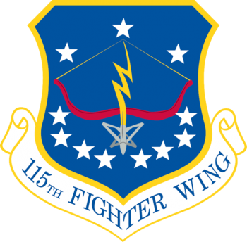 Coat of arms (crest) of the 115th Fighter Wing, Wisconsin Air National Guard