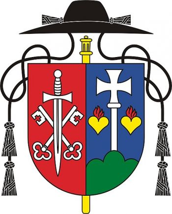 Arms (crest) of the Benedictine Priory of the Transfiguration of Our Lord in Samora