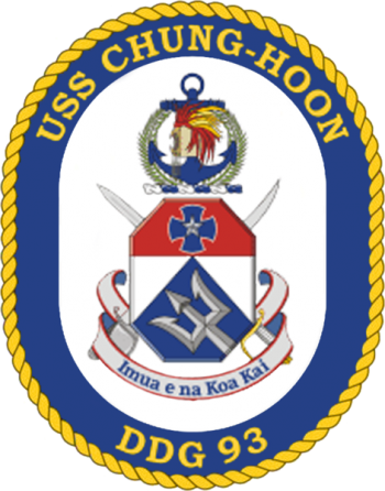 Coat of arms (crest) of the Destroyer USS Chung Hoon (DDG-93)